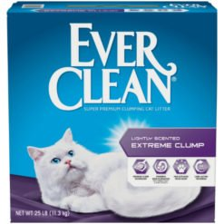 Ever Clean Lightly Scented Clumping Clay Cat Litter, 25-lb Box.