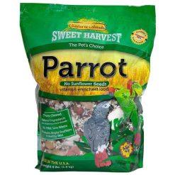 Sweet Harvest Parrot Bird Food No Sunflower Seeds Formula, 4-lb Bag.