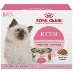 Royal Canin Feline Health Nutrition Thin Slices in Gravy Wet Kitten Food, 3-oz Case of 6.