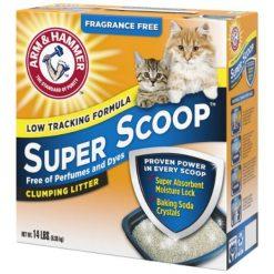 Arm & Hammer Litter Super Scoop Fragrance-Free Clumping Clay Cat Litter, 14-lb.