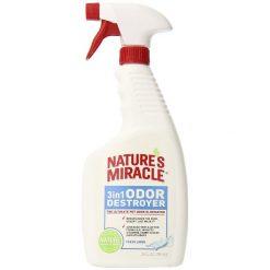 Nature's Miracle Fresh Linen 3 in 1 Odor Destroyer, 24-oz Bottle.