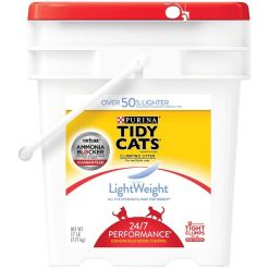 Tidy Cats Lightweight Scented Clumping Clay Cat Litter, 17-lb Pail.