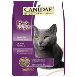 CANIDAE Life Stages Indoor Formula Adult Dry Cat Food, 4-lb Bag.