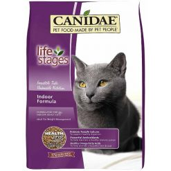 CANIDAE Life Stages Indoor Formula Adult Dry Cat Food, 8-lb Bag.