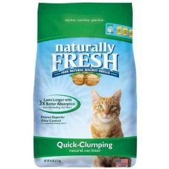 Naturally Fresh Unscented Clumping Walnut Cat Litter, 14-lb Bag.