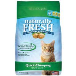 Naturally Fresh Unscented Clumping Walnut Cat Litter, 26-lb Bag.