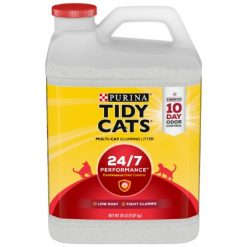 Tidy Cats 24 7 Performance Scented Clumping Clay Cat Litter, 20-lb Jug.