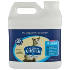Premium Choice Carefree Unscented Clumping Clay Cat Litter, 16-lb Jug.