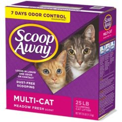 Scoop Away Multi-Cat Scented Clumping Clay Cat Litter, 25-lb Box.