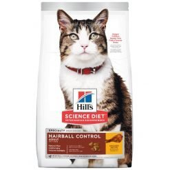 Science Diet Adult Hairball Control Chicken Recipe Dry Cat Food, 3.5-lb